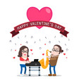 musician couple playing love songs together vector image