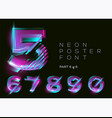neon 3d typeset glowing text effect vibrant vector image vector image