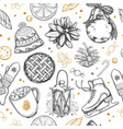 new year seamless pattern vector image vector image