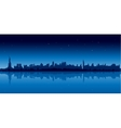New york city skyline in blue version at night vector image