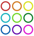 Nine colorful rings vector image vector image