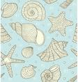 ocean shells vector image vector image