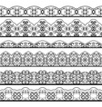 ornate vintage line border set isolated on white vector image