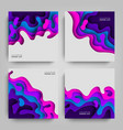 paper cut collection abstracts backgrounds with vector image