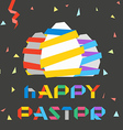 Paper Easter eggs Happy Easter greetings vector image