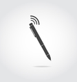 Pen with wi fi vector image