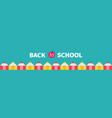 pencil set line back to school card green vector image vector image