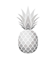 pineapple silver icon vector image vector image