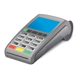 POS terminal on white background vector image vector image