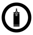 punching bag icon black color in circle round vector image vector image