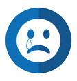 sad emoticon style icon shadow vector image vector image