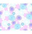 Seamless flower pattern on white background EPS10 vector image vector image