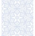 Seamless pattern made of line art crystals vector image vector image