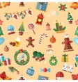 seamless pattern with Christmas accessories vector image vector image