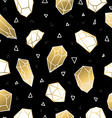 Seamless pattern with gold crystal rocks vector image vector image