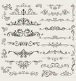 set calligraphic design elements and vector image vector image