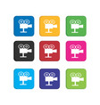 set colorful video or movie player icon for smart vector image vector image