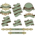 set vintage ribbons and banners vector image