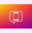 smartphone icon mobile phone communication vector image vector image