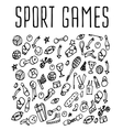 Sport hand drawn seamless logo vector image vector image