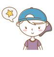 stylish boy cartoon outfit portrait vector image vector image