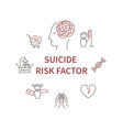 suicide risk factor vector image