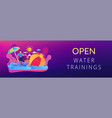 swim camp concept banner header vector image vector image