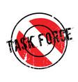 task force rubber stamp vector image