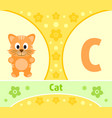 the english alphabet with cat vector image vector image