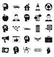 think icons set simple style vector image vector image