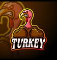 turkey esport logo mascot design vector image vector image