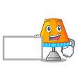 with board character table office lamp in indoor vector image vector image