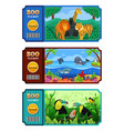 zoo ticket design vector image