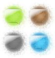 Glass Speech Bubbles Set vector image