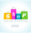 online shopping shopping bags logo internet shop vector image