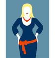 Slim woman in blue dress vector image