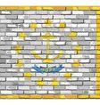 Flag of Rhode Island on a brick wall vector image