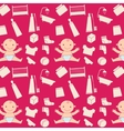 pattern with baby vector image