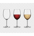 mockup wine wineglass design vector image