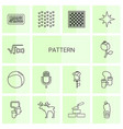 14 pattern icons vector image vector image
