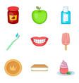acid drop icons set cartoon style vector image vector image