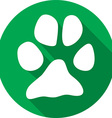 Animal Paw Icon vector image vector image