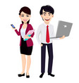 asian business man and business woman vector image