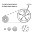 bicycle gear vector image vector image