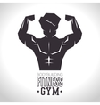 bodybuilding fitness gym concept vector image