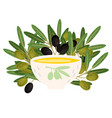 bowl with fresh olive vector image