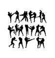 boxing competition silhouettes vector image vector image
