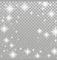 bright star twinkle glow shimmering frame layout vector image vector image