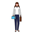 businesswoman character female vector image vector image