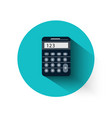 Calculator in flat design vector image vector image
